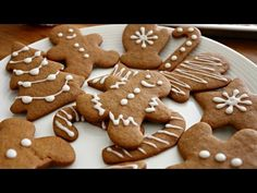 Christmas Gingerbread Men Cookies | sweetco0kiepie - YouTube