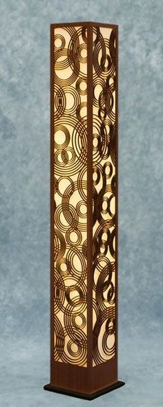 Decorative Laser Cut Wood Floor Lamp