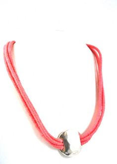 Cocoon - Short Necklace - Silver - Coral Sales price: 17,90 € Short Necklace, Silver Necklaces, Coral, Detail, Bracelets, Jewelry, Bangle Bracelets, Jewellery Making, Jewerly