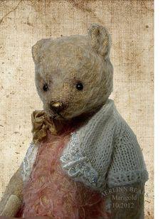 ٠•●●♥♥❤ஜ۩۞۩ஜஜ۩۞۩ஜ❤♥♥●   Marigold , One Of a Kind Mohair Ted from Aerlinn Bears  ٠•●●♥♥❤ஜ۩۞۩ஜஜ۩۞۩ஜ❤♥♥●