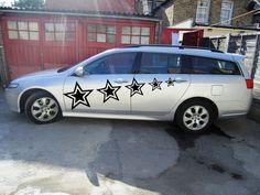 CAR SIDE VINYL S DECAL GRAPHICS CUSTOM ORDER SIZE 19''X70'' STAR PATTERN