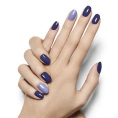 pop of blue by essie - design a seductive deep violet nail look with a  pop of opulent azure that's anything but camera shy.