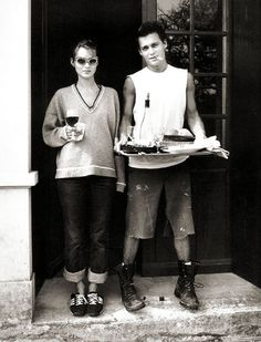 Kate Moss And Johnny Depp At Their Front Door, 1994