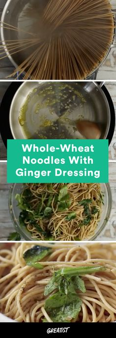 Use your noodle and make this for dinner tonight. #wholewheat #pasta #recipe http://greatist.com/eat/whole-wheat-pasta-with-sauteed-greens-recipe-video