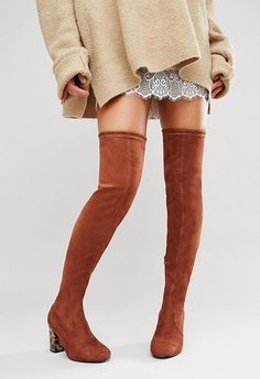 The AW16 update for over-the-knee boots are sleek, subtle (pipe down, Pretty Woman) and in the colour of the season, rusty brown