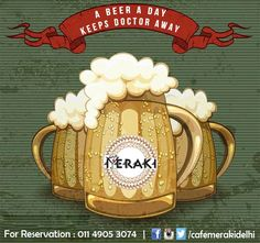 So, be with BEER and stay away from Doctors. pour more enjoy more it's saturday night weekend. #beer #enjoy #cheers #lounge #booze For reservation call on 011-49053074