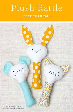 Cats Toys Ideas - Hochets doudous - Ideal toys for small cats Diy Baby Gifts, Baby Crafts, Free Gifts, Homemade Baby Gifts, Diy Gifts For Babies, Sewing Projects For Kids, Sewing For Kids, Diy Projects, Sewing Ideas