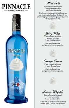 Pinnacle Whipped recipes - heh Patty & Laura!!!
