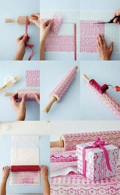 Druckwalze selber herstellen DIY Tablecloth stamp diy diy ideas diy crafts do it yourself stamp diy tips diy images do it yourself images diy photos diy pics diy tablecloth stamp diy stamp Fun Diy Crafts, Arts And Crafts, Paper Crafts, Diy Paper, Paper Lace, Diy Stamp, Diy Projects To Try, Craft Projects, Wraps