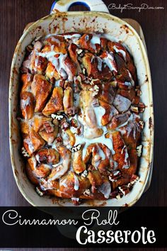 Simply AMAZING - Most ingredients sitting in your kitchen RIGHT NOW. Can be prepared the night before - Cinnamon Roll Casserole Recipe.