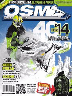 OSM On Snow magazine Snowmobiles Spring buyers guide El Tigre Viper Gear Tech
