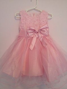 Shop for on Etsy, the place to express your creativity through the buying and selling of handmade and vintage goods. Girls Easter Dresses, Flower Girl Dresses, Dress Wedding, Rosettes, Pink Dress, Elegant, Trending Outfits, Unique Jewelry, Vintage