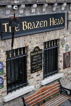 Sign for the oldest Pub in Dublin. A lot like the carved & gilded signs we make: www.danthoniadesigns.com