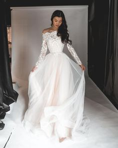 33 Off The Shoulder Wedding Dresses To See And Fall In Love ❤ off the shoulder wedding dresses a line with sleeves lace oliviabottega #weddingforward #wedding #bride #weddingoutfit #bridaloutfit #weddinggown