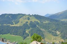 A beautiful Morzine view in Summer Holiday Ideas, Golf Courses, France, River, Summer, Outdoor, Beautiful, Chalets, Outdoors