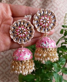 Indian Jewelry Earrings, Indian Jewelry Sets, Fancy Jewellery, Indian Wedding Jewelry, Ear Jewelry, Bridal Jewelry, Bridal Jewellery Inspiration, Terracotta Jewellery Designs, Bollywood Jewelry