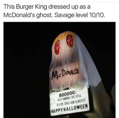 Lolllll but my first thought was of something else when I first saw the words King, McDonald's, and ghost in one sentence... Comment if you know what I'm talking about