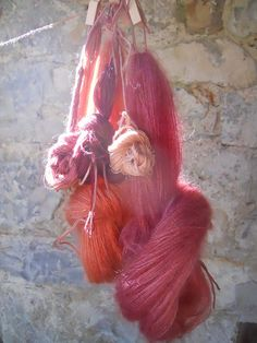 Yarn dyed with Madder root, by Mary Lena Lynx