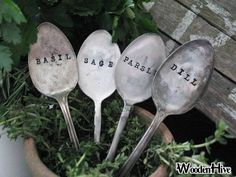 now coming to my garden: spoon markers