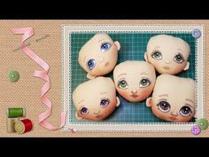 (very inspiring video tutorial.even if in another language. Doll Face Paint, Doll Painting, Doll Clothes Patterns, Doll Patterns, Mermaid Dolls, Doll Eyes, Diy Sewing Projects, Doll Tutorial, Waldorf Dolls