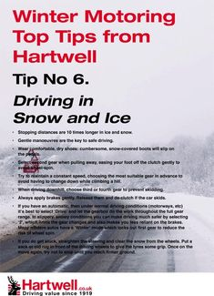 Some winter motoring tips from Hartwell Plc.     Tucson Auto Body, Auto Restoration, Winter Driving Tips, Collision Repair