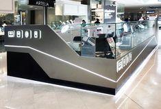 Haiou Phone & Tablet Device Repair Retail Shop & Kiosks, designed by Suburban Design & Construct Cell Phone Kiosk, Interior Design And Graphic Design, Phone Store, Kiosk Design, Perth Australia, Food Stall, Retail Shop, Signage, Fountain