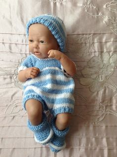 Hand knitted dolls clothes to fit a 14 by HandKnittedbyme on Etsy