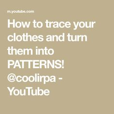 This video has been highly requested for so long! I hope this helps you out and clears some confusion you had about tracing your clothes and patternmaking :). Pattern Making Books, To Trace, Diy Clothes Videos, Curve Design, Confusion, How To Become, Teaching, Make It Yourself, Patterns