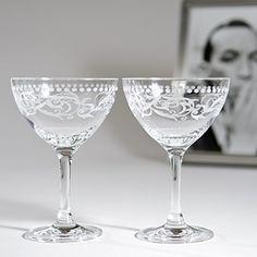 "Cole Porter ""Ritz Bar"" Champagne Cocktail Glasses (Limited Edition) HISTORY COMPANY http://www.amazon.com/dp/B00MONJZAC/ref=cm_sw_r_pi_dp_NXYfub1531SWD"