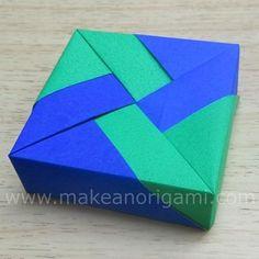 Origami Square Box #1 (Lid 1) (Tomoko Fuse) | makeanorigami.com                                                                                                                                                     More