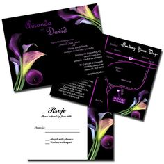Beautiful Calla Lilly Wedding Invitations