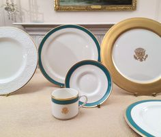 The Obama State China Service, produced by Pickard China. Each service was donated by the White House Endowment Trust, administered by the White House Historical Association. Consists of 11-piece place settings for 320. 3,520