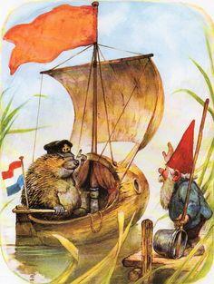 Art Print by Rien Poortvliet Gnome elf David by CuteEyeCatchers