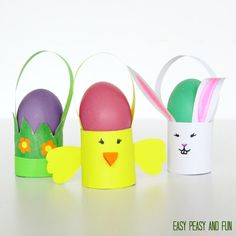Toilet Paper Roll Easter Craft - Baskets - Easy Peasy and Fun
