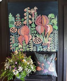 Painting and design by Anna Strøm, contemporary design, contemporary art,cow,cow painting, moder painting, wall decor,home decor, picture, wall picture,  grey color, fashion color,trend color, style,black wall, nordic , nordic design, Original painting, Acrylic painting, animals painting Contemporary Design, Modern Art, Cow Painting, Decorating With Pictures, Painting Gallery, Flower Wall Decor, Black Walls, Color Fashion, Nordic Design