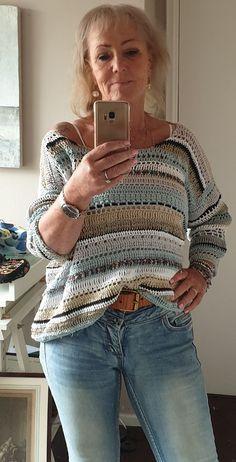 Crochet Jumper, Knit Crochet, Beautiful Crochet, Knit Patterns, Pullover, Knitting, Sweaters, Clothes, Vest