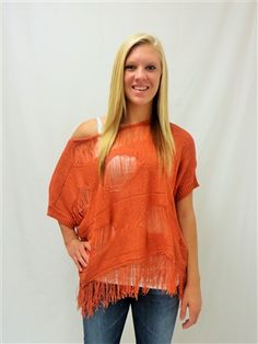 RUST ORANGE BLOUSE $42