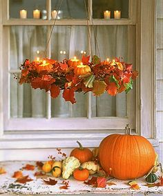 Seriously ... a pumpkin chandelier? Now that I know this exists, I want it.
