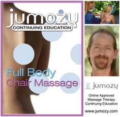 """Jumozy.com announces the release of its new online massage continuing education course - """"Full Body Chair Massage"""" - Presented By Meade Steadman, LMT.  In this 5.5 CE hour course, massage therapists can learn the in's and out's of full body chair massage: techniques, equipment, and how to effectively generate business.  The Full Body Chair Massage CEU course (5.5 CE Hrs.) can be accessed online at http://www.jumozy.com/course-catalog/full-body-chair-massage-5-5-ce-hrs-m10c.html"""