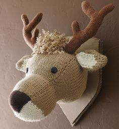 Knitted deer head pattern -- for my father-in-law. I can't get on board with a real one, so maybe this can be our compromise, haha!