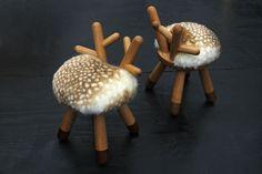 Silla Bambi en Roble y Nogal por Takeshi Sawada Natural EO Design