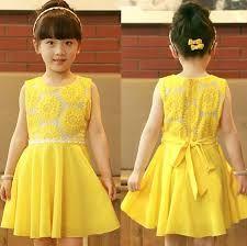 0bd4701382d Fashion Girls 2014 New Summer Kids Korean Chiffon Princess Dress Veil Girl  Sunflowers Dress Girl Yellow Party Dress