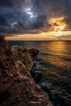 Photo listed in Landscape Shot taken with 45 shares, 74 likes and 1112 views. Beautiful Sunset, Greece, Landscape, Cliff, Sunsets, Water, Photography, Outdoor, Greece Country
