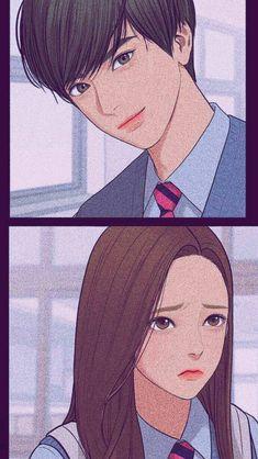 Anime Cupples, Anime Guys, Anime Art, Anime Couples Drawings, Couple Drawings, Beauty Web, True Beauty, Pretty Anime Girl, Kawaii Anime Girl