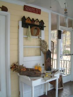 Great use for that old door..lots of possibilities