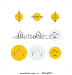 Modern electrician logo on dk gray business card pinterest card electrician logo stock vectors vector clip art shutterstock reheart Images