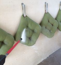 Quick Tip - Cleaning Outdoor Pillow Cushions at the Carwash · Hawk Hill Cleaning Outdoor Cushions, Cleaning Pillows, Outdoor Chair Cushions, Wicker Chairs, Outdoor Pillow, Diy Drawer Dividers, Kitchen Chair Cushions, Lawn Furniture, Diy Drawers