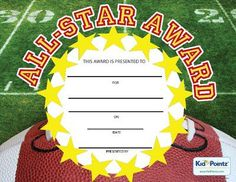 All-Star Award Certificate | Kid Pointz