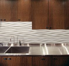 Contemporary Textured Backsplash Google Search