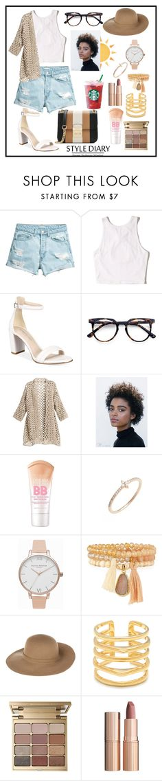 """Shorts"" by yumyv ❤ liked on Polyvore featuring Hollister Co., Kenneth Cole, Ace, Maybelline, Bony Levy, Olivia Burton, Panacea, Armani Jeans, Stella & Dot and Stila"